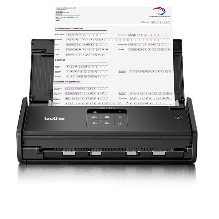 harga Brother  portable ads-1100w compact document scanner + wireless Tokopedia.com