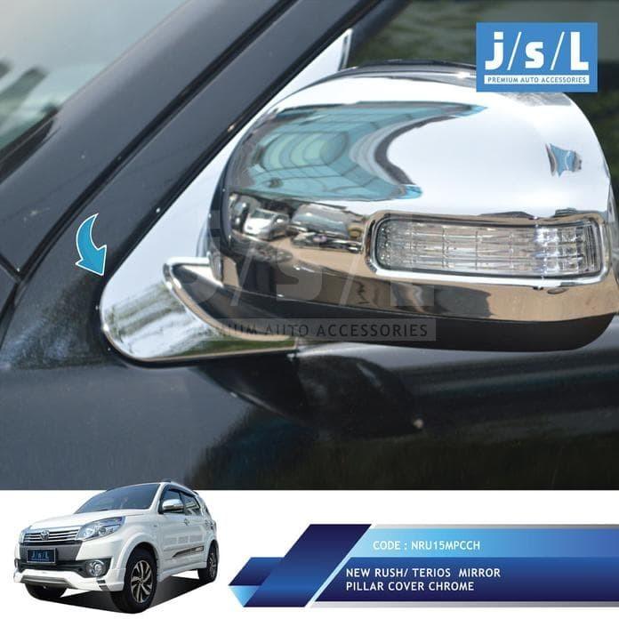 Toyota New Rush Cover Spion Jsl Krom  |  Mirror Cover Chrome Att02