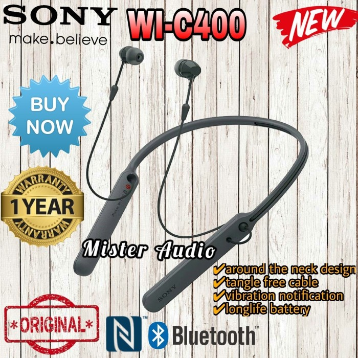 harga Sony wi-c400 /wi c 400 bluetooth behind-neck in ear headphone original Tokopedia.com
