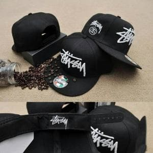9cac3b998e56a topi snapback stussy -stussy cap original import -hitam Berkualitass