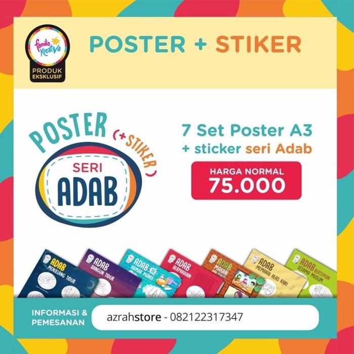 Jual Poster dan stiker 7 Adab Islam - Kota Bandung
