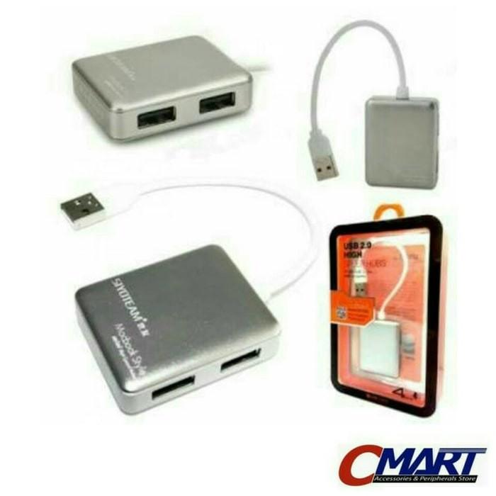 8d32290decc Jual (Murah) Siyoteam 4port USB 2.0 Hi-Speed Hub Macbook Style - SY ...