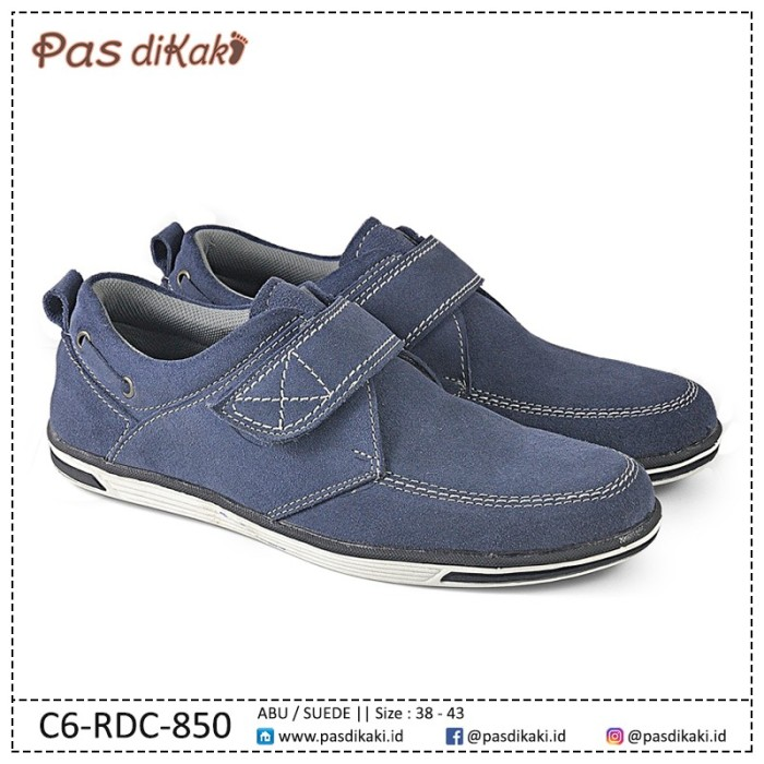 harga Sepatu casual sneaker kets lace-up velcro strap pria | c6-rdc-850 Tokopedia.com