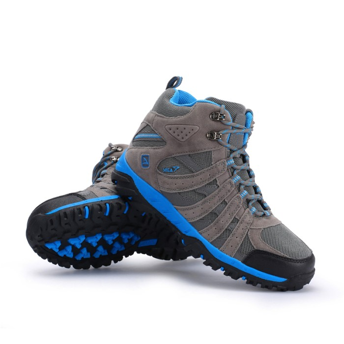 harga Sepatu gunung snta 476 grey blue -  boot / hiking/ trekking / outdoor Tokopedia.com