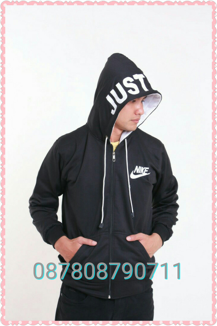 Jual Jaket Pria Nike Text Black (hoodie terbaru dc1b356da8
