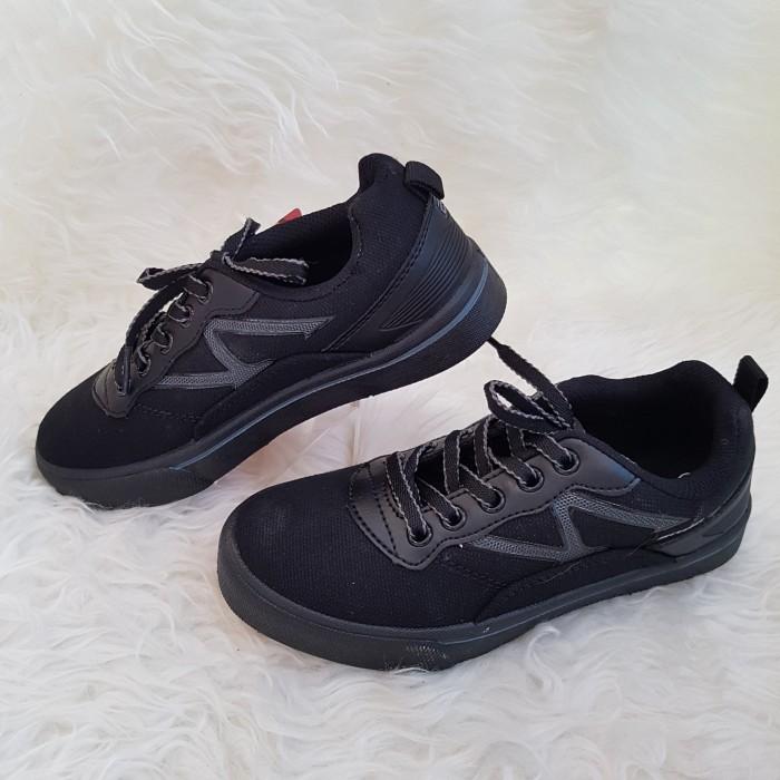 harga Ando styler t all black hitam sepatu sekolah anak sport school shoes Tokopedia.com