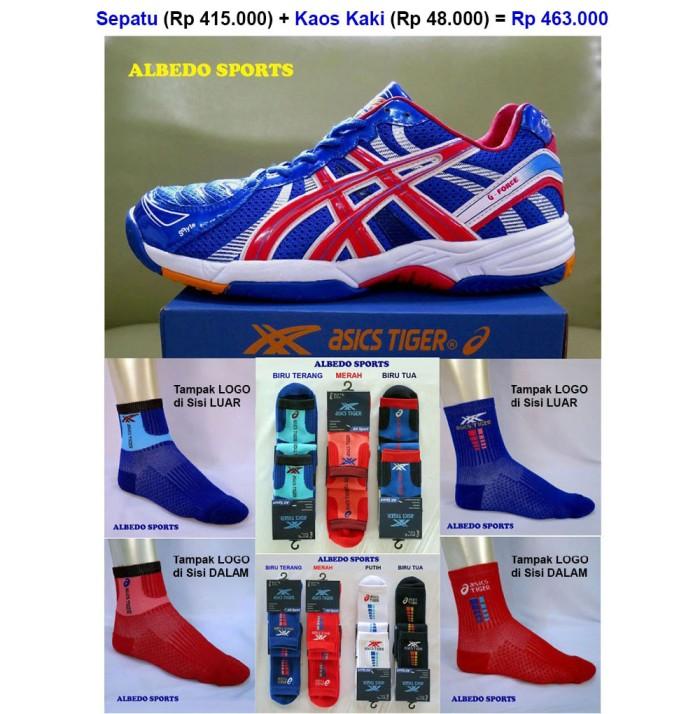 harga Asics Tiger (merek Dunia Kelas Mizuno) G-force Sepatu Volley/voli Blue Tokopedia.com