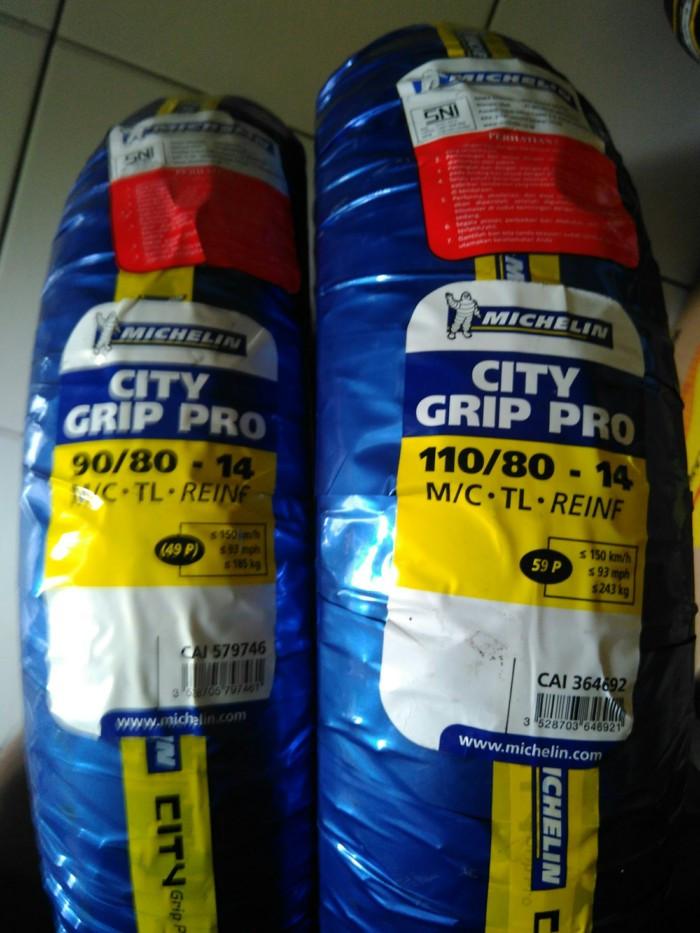 harga Paketan ban 90/80-14 & 110/80-14 michelin city grip pro tubeless Tokopedia.com