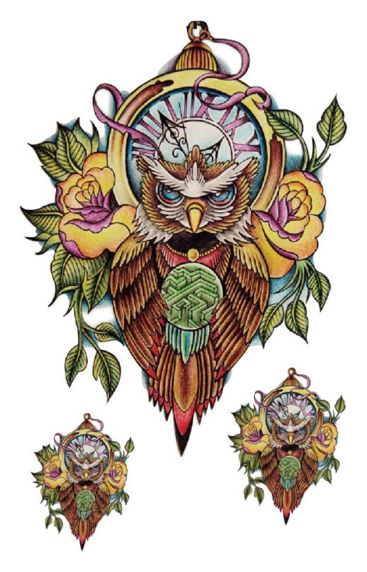 Jual Hc 2021 Owl Temporary Tattoo Temporer Motif Burung Hantu