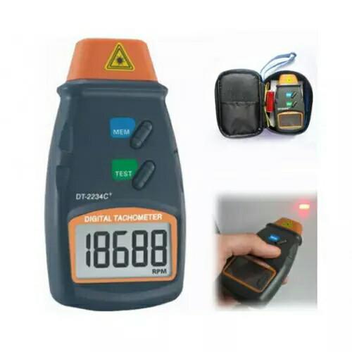Foto Produk tt. digital tachometer laser / alat ukur rpm putaran dinamo, motor, dari marketzafr