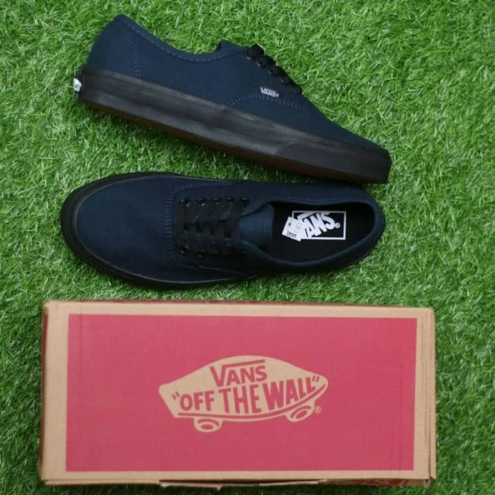 6309f9b382 Sepatu vans authentic navy sol black waffle icc original bnib harga ...