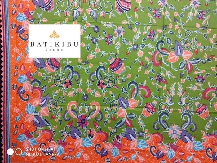 Kain Batik Pekalongan Cibulan Motif 274 Hijau Unggul Jaya - Hijau muda