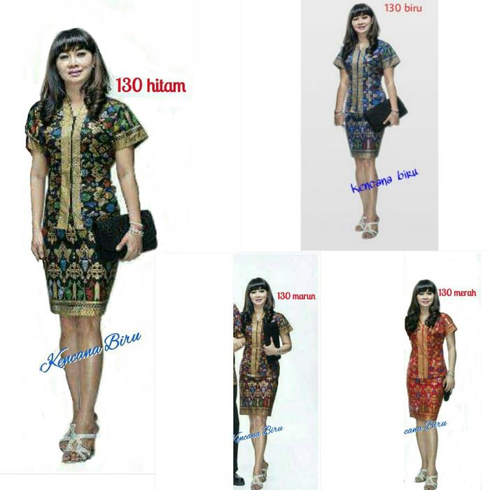 harga 130 rok n blus batik big size xxl /dress/seragam Tokopedia.com