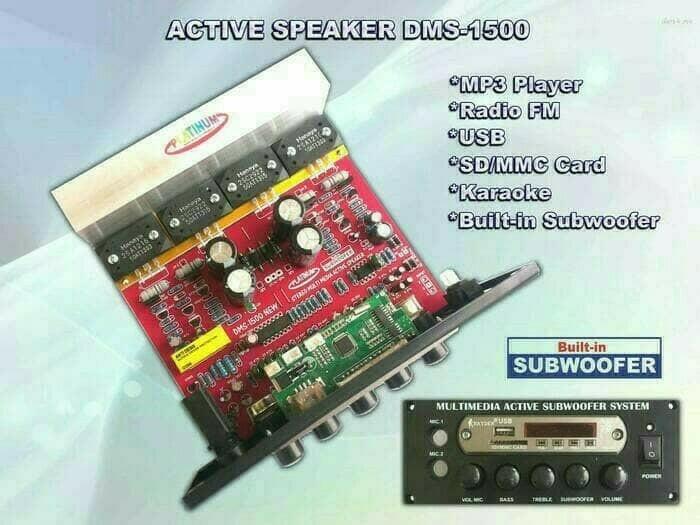 harga Kit power subwoofer karaoke + mp3 + subwoofer dms-1500 Tokopedia.com