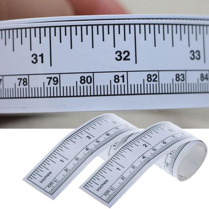 harga Meteran tempel / meteran stiker untuk workbench / mesin jahit 45 cm Tokopedia.com