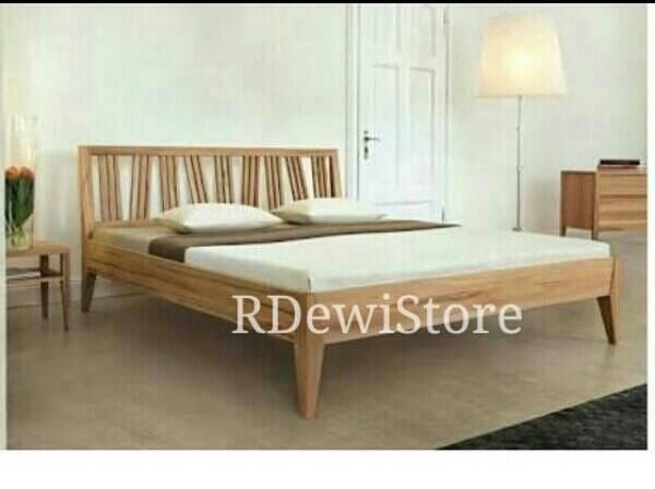 harga Tempat tidur, dipan, ranjang minimalis kayu jati Tokopedia.com