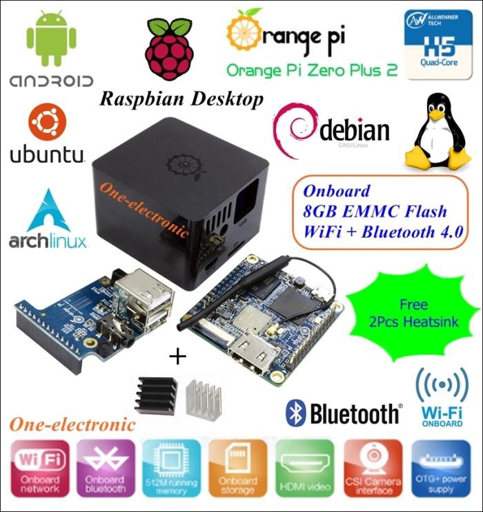 Jual Orange Pi Zero Plus 2 Chip H5 Quad Core 1,2GHZ Expansion Black Box -  Golden_Olshop | Tokopedia