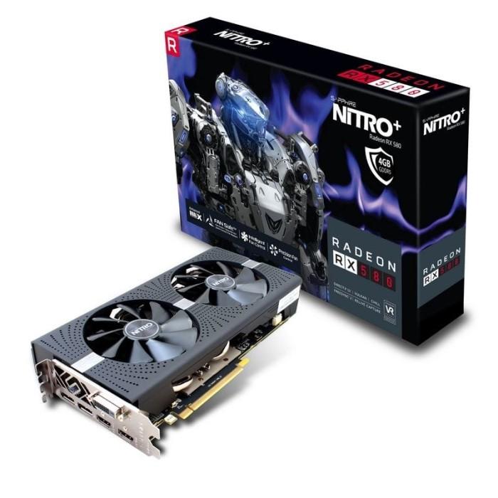 Sapphire NITRO Samsung Radeon RX 580 OverClock 8GB GDDR5 w//Original Box