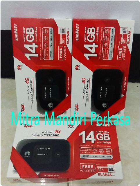 harga Modem mifi wifi 4g lte huawei e5577 free telkomsel 14gb unlock Tokopedia.com