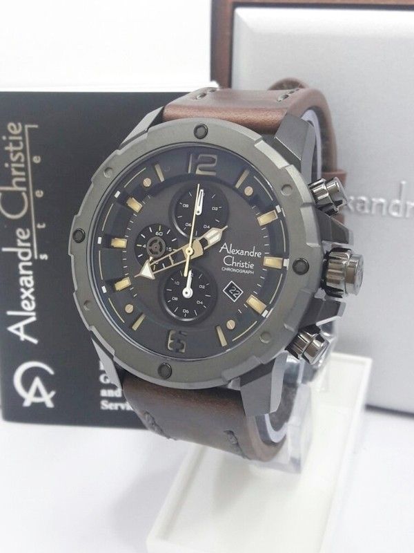 Jam tangan pria Alexandre Christie Original AC 6410 MCL DBWGYBL