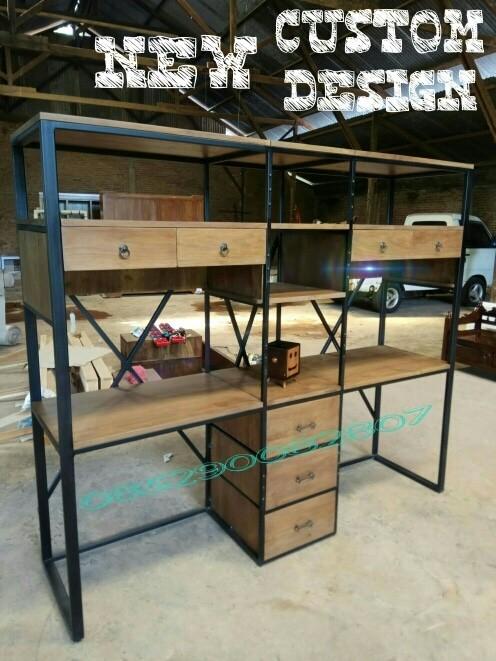 Jual Meja Kerja Kantor Belajar Industrial Rak Besi Pipa Hollow Kab Jepara Cv Rico Art Furniture Tokopedia