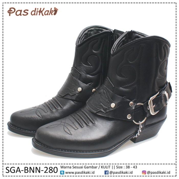 harga Sepatu boots cowboy biker rider pria | sga-bnn-280 Tokopedia.com