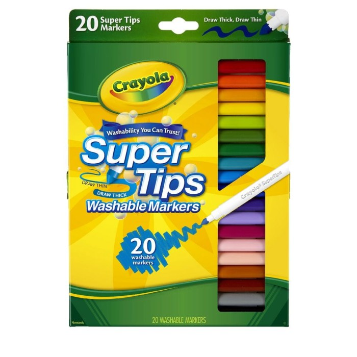 harga Crayola washable super tips fineline markers 20ct Tokopedia.com