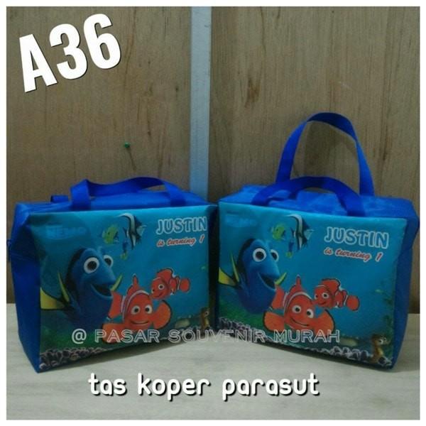 MURAH -- Souvenir Suvenir Tas Koper Bag Custom Disain Printing Foto