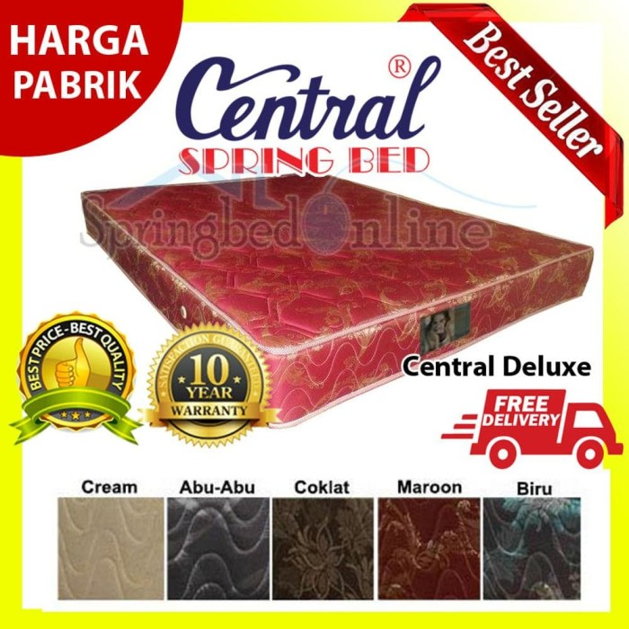Matras Central Springbed Deluxe 200x200 - Kasur Saja 20 Diskon