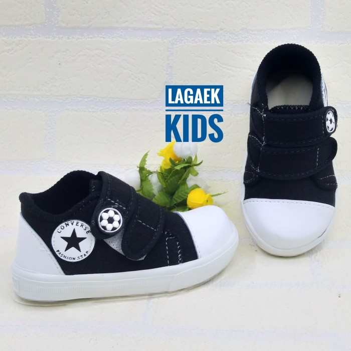 harga Sepatu anak keren velcro baby sport hitam perekat 1 2 3 tahun sku-zzh Tokopedia.com