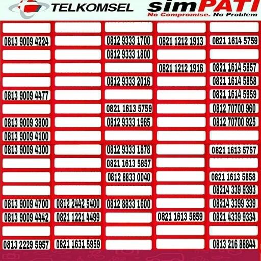 Telkomsel Simpati Nomor Cantik 0812 8888 1399 Daftar Harga Terbaru Source · Kartu Perdana Telkomsel Nomor