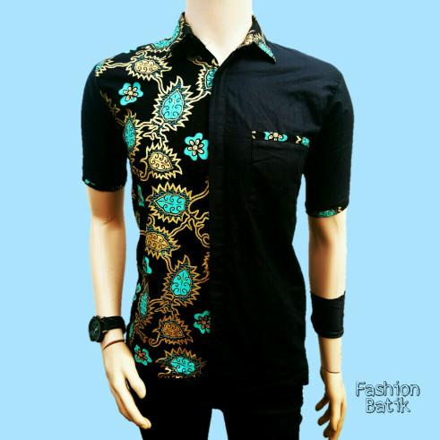 Jual Kemeja Batik Kombinasi Baju Batik Pria Kombinasi 0005 Kota Pekalongan Batik Arta Tokopedia