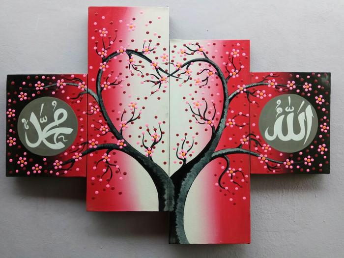 harga Lukisan kaligrafi sakura merah pink Tokopedia.com