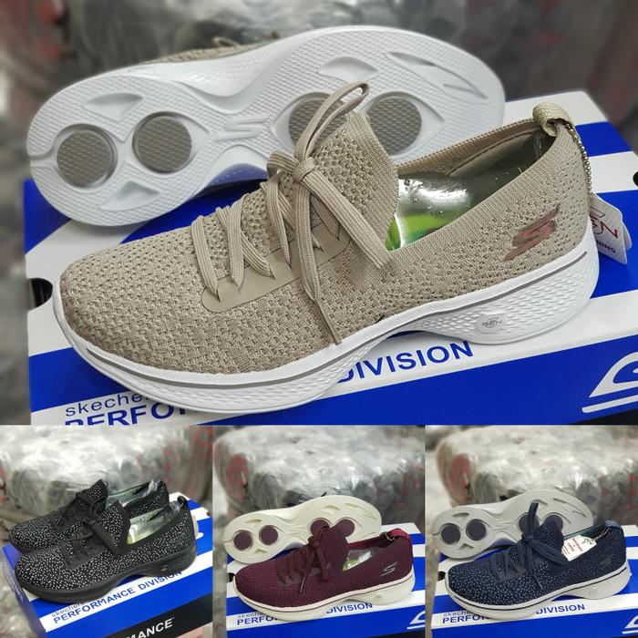 prototipo audición borgoña  Jual SEPATU SKECHERS GO WALK 4 WANITA / ALAS GOGAMAX NYAMAN DIPAKAI - Beige,  37 - Jakarta Utara - Faizal Sport Pasar Ular | Tokopedia