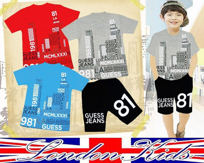 harga Setelan kaos celana merk london kids utk ank laki-laki usia 12,13 thn Tokopedia.com