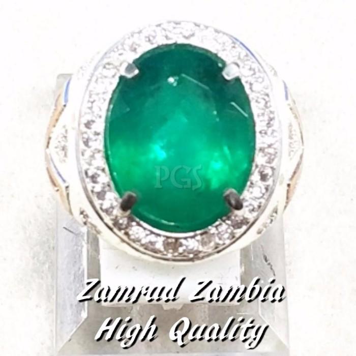 harga As cincin batu akik permata zamrud zambia hq cuting ring alpaka termu Tokopedia.com