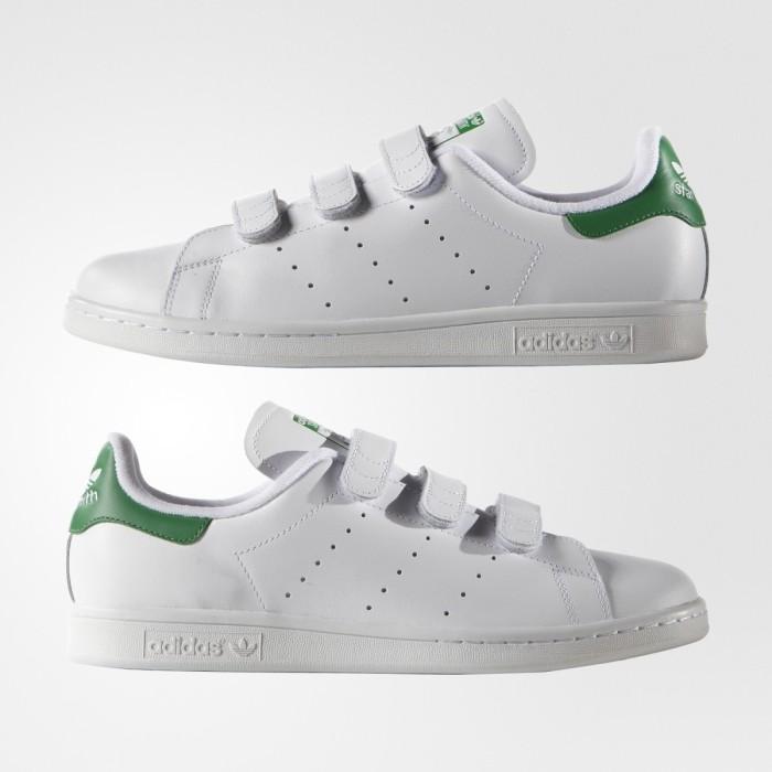 3ebfc23b5 Jual Adidas Stan Smith CF Strap White Green