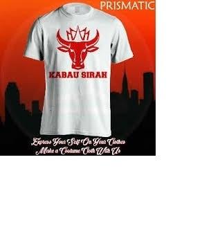 Foto Produk kaos/baju/t-shirt kabau sirah semen padang dari desain suka suka