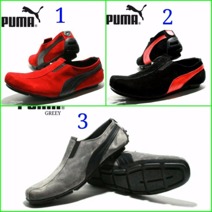 Jual Sepatu Casual Santai Pria Puma Slip On slop Suede - BEMAX ... 5af6569d28
