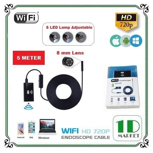 harga Wireless mini camera cable 5 mtr waterproof - kamera kabel wifi Tokopedia.com