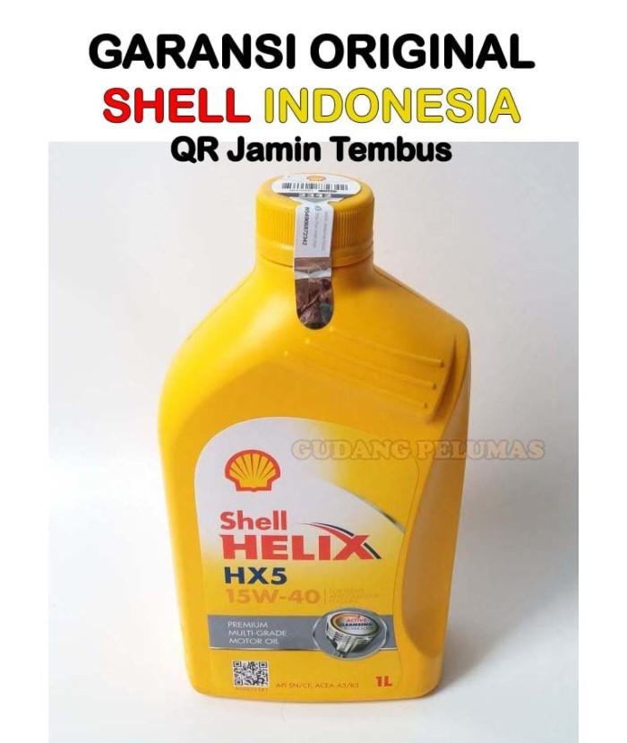 Oli Mesin Shell Hx5 15w 40 Botol 1 Liter Garansi 100 Asli