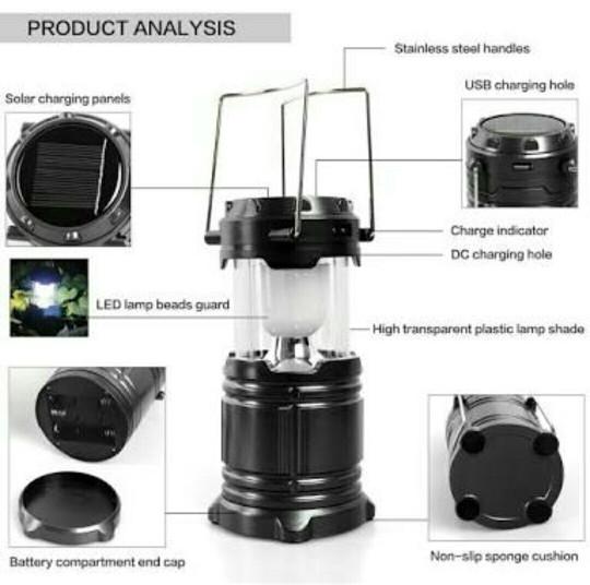 Lampu Lentera Tarik Besar / Senter Lentera Camping / Emergency LED