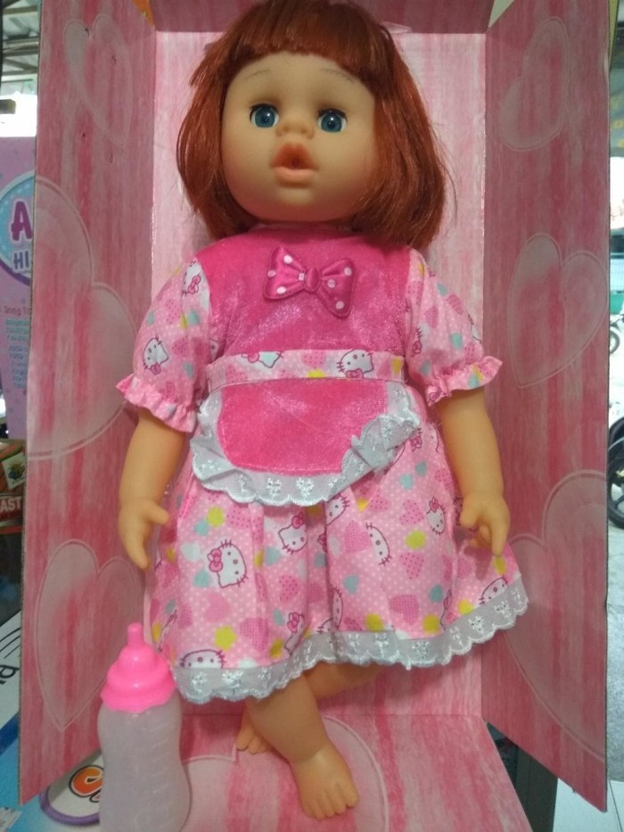 Boneka singer baby bisa nyanyi bicara tertawa dan nangis original 374d6596a4