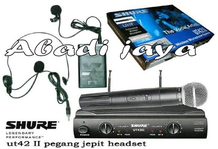 harga Mic Shure Ut 42 Ll (pegang+clip On+headset) Tokopedia.com