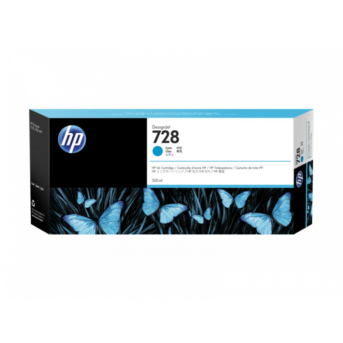 harga Tinta plotter hp 728 cyan 300ml Tokopedia.com