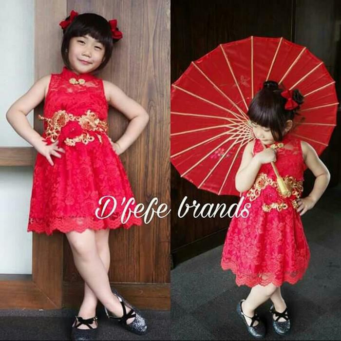 harga Dress brokat shanghai Tokopedia.com
