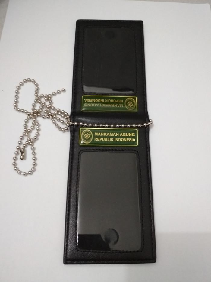 jual name tag id card holder kulit mahkamah agung ma ri