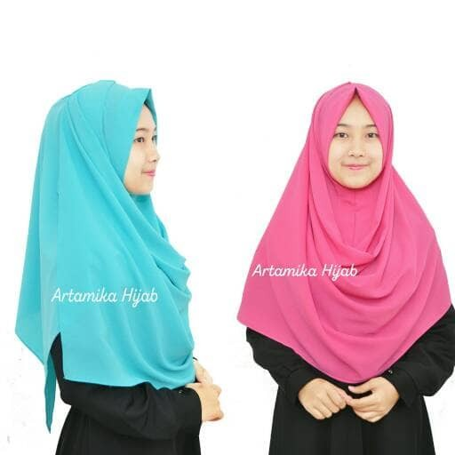 Hafizah big hijab instan syari sala pastan jilbab khimar murah cantik