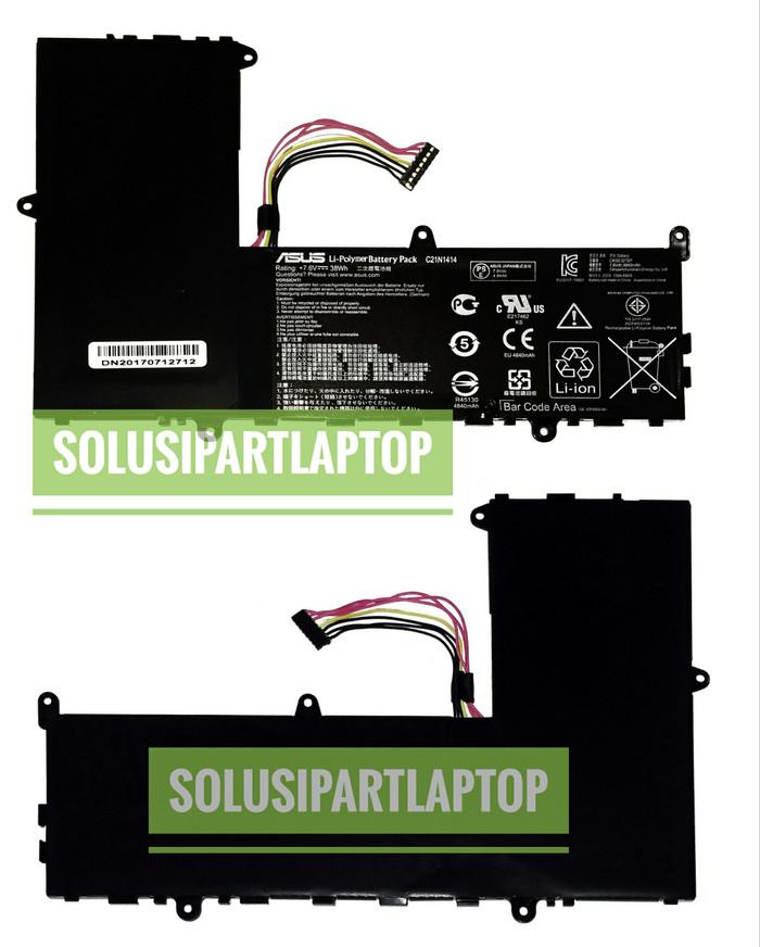 harga Original baterai asus x205t x205ta c21n1414 black Tokopedia.com