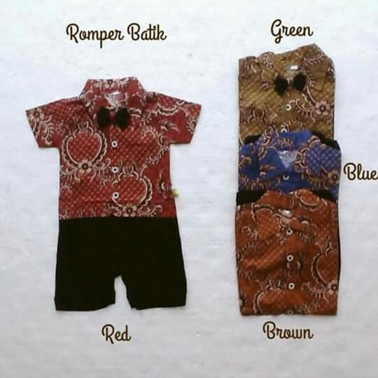 harga Baju Pesta Fashion Jumper Romper Batik Tuxedo Dasi Anak Bayi Laki Laki Tokopedia.com